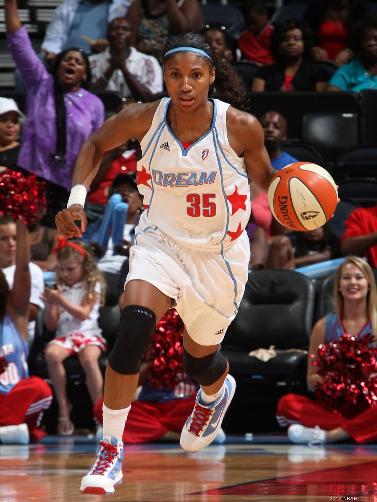 Angel McCoughtry, the 2009 No. 1 draft pick, led the Dream with 39 points. She went 13-for-20 from the field and made 13 free throws, missing only one.