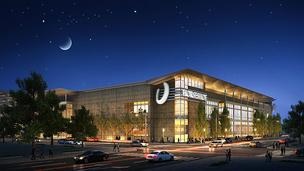  An artist's rendering of the planned Horseshoe Baltimore casino near M&T Bank Stadium.  