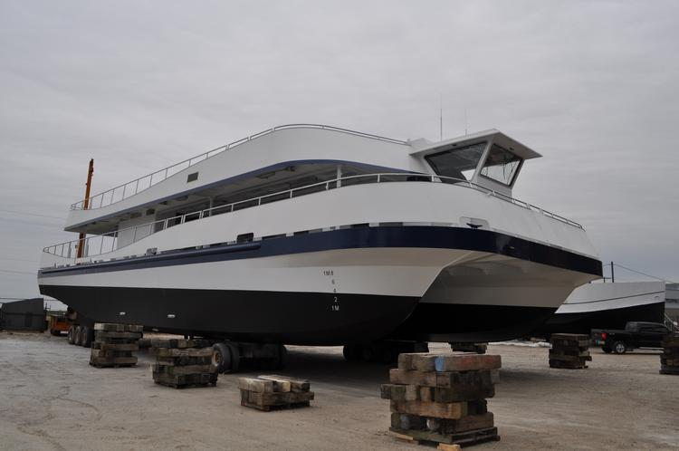 This is the first of two catamarans that Hornblower Niagara Cruises will operate starting next year from Niagara Falls, Ont.