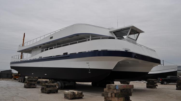 One of two catamarans that Hornblower Niagara Cruises will operate this year from Niagara Falls, Ont.
