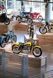 A look at the motorcycle collection at Barber Vintage Motorsports Museum.