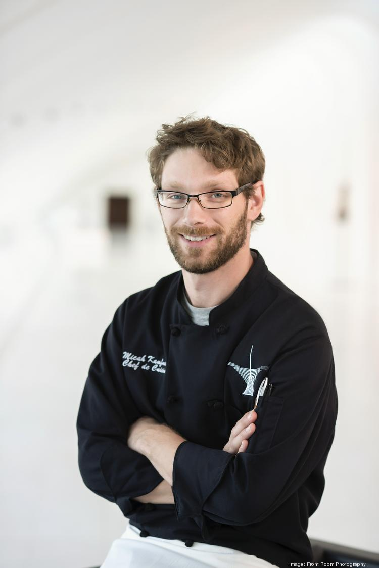 Micah Kaufman, chef de cuisine at the Milwaukee Art Museum