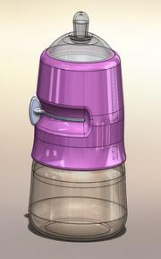 Babylocity has a utility patent for this storage and bottle system for baby formula, called Mix & Go.