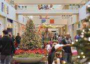 NorthPark displays thousands of lights on its trees that are spread throughout the shopping center.