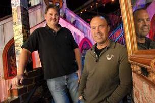 Don Bellis, left, and Jay Gigandet, co-founders of The Rock Wood-Fired Pizza, have added seven restaurants to their group in the past 20 months. They started with a downstairs pizzeria in Tacoma in 1995. Here they're seen at the Renton location.