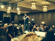 Right this Minute co-host Nick Calderone takes a selfie on Debbie Gaby's Celebrity Catwalk Thursday at the Montelucia.