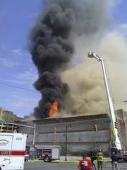 Fire at two adjoining buildings downtown at 1809 and 1811 First Ave. N., near the Amtrak station.