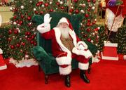The Galleria also features Santa, which kids can visit throughout the Christmas season.