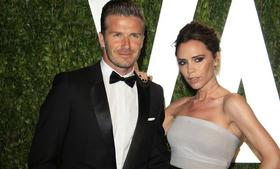 David and Victoria Beckham, shown here at the Vanity Fair Oscar party in  West Hollywood, California last year, cleaned out their closets to help Typhoon Haiyan victims in the Philippines.