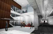 An artist's rendering of the First Avenue lobby of downtown Minneapolis' Block E after renovations