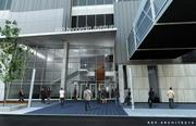 An artist's rendering of a the front enterance on Hennepin Avenue to a renovated Block E in downtown Minneapolis