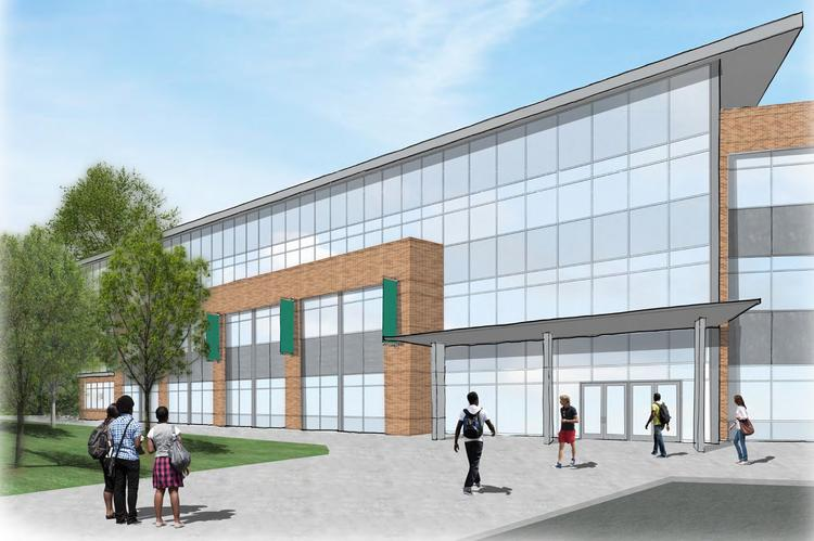 Ohio University is planning a three-story building along Post Road for its College of Health Sciences and Professions.