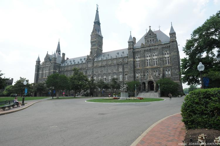 Healy Hall at Georgetown University is shown. D.C. has been named one of the top large-metro college towns in the country.