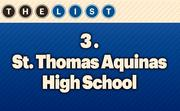 No. 3 St. Thomas Aquinas High School  2013 Enrollment: 907 Location: Overland Park For more information, check out the 2013 Top private schools available to KCBJ subscribers.