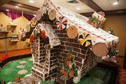 The Christmas Village includes a gingerbread house made by the hotel's culinary team.