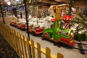 The Peppermint Express Kiddie Train goes through the Candy Cane Forest.