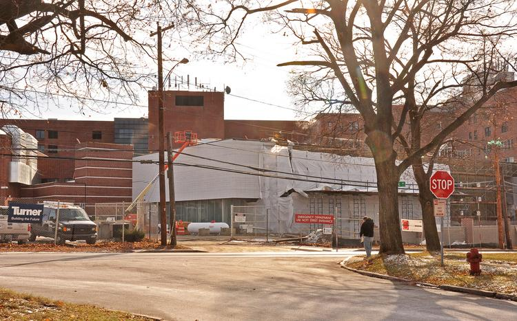The shell of the expanded ER at Ellis Hospital is seen in late November 2013. The Schenectady hospital has experienced a 17 percent increase in annual ER patients since 2009.