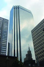 Thanksgiving Tower, 1.4 million SF, 1,152 parking spaces (732 underneath the tower and 420 in a nearby garage), or less than 1 parking space per 1,000 square feet of office space
