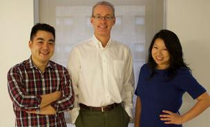 Kevin Ryan, center, partnered with former Gilt Groupe colleagues for Zola, a new wedding registry platform. That is Nobu Nakaguchi, chief design officer on the left and CEO Shan-Lyn Ma on the right.