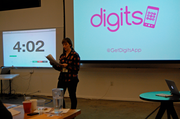 """Digits is a mobile game designed to make meeting potential dates a little easier. Designed to be played by two people face to face the game asks a question and kind of like the children's game hangman, with each """"right"""" answer one person offers up a digit of their phone number. If the game is successful a whole phone number is revealed."""