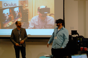 Wish Delivery looks to create wish fulfillment, similar to the make-a-wish foundation, but aimed at people with limited mobility or an inability to travel. Using virtual reality and the Oculus Rift hardware the team pitched building a network that would connect people who want wishes fulfilled with developers who could create the immersive environment. The cost of creating the environments would be crowdfunded on the site.