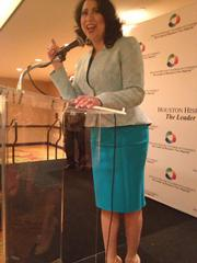 Dr. Laura Murillo, president and CEO of the Houston Hispanic Chamber of Commerce, celebrates the record-breaking attendance at the annual luncheon with stakeholders gathered at a VIP reception.