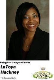 NOMINATOR COMMENTS: La-Toya began her career as an associate in the Corporate and Securities Department of Dechert LLP, followed by Assistant General Counsel at Sunoco, Inc. and now serves as lead counsel for global distribution and global corporate marketing/communications.