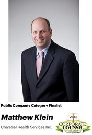 NOMINATOR COMMENTS: He is the point person within UHS for regulatory and compliance matters and is instrumental in implementing a dedicated, independence and robust compliance function for finance, billing, employment, clinical and antitrust matters.