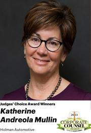 NOMINATOR COMMENTS: Kathy joined Holman Automotive in 2001 and now currently serves as Vice President and General Counsel, Assistant Secretary, Director. She was formerly employed by law firm Whitmore, Kay & Steven in Palo Alto, California.