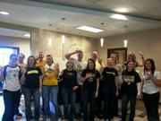 Shockers fans at Kennedy and Coe.