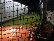 Rx Sport's 40,000-square-foot plant in Norristown includes a batting cage for customers to take a few swings.