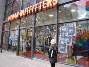 Urban Outfitters' Center City store, which is at 1627 Walnut St., promoted its Black Friday sales last week.