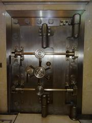 The main Riggs National Bank vault, on the main floor of its former headquarters. The Corcoran Branch, now owned by PNC, is for sale.