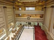 A look from high above the main floor of the former Riggs National Bank headquarters. PNC has the Corcoran Branch and its annex, both five stories, on the block.