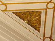 Intricate molding is found throughout the Corcoran Branch at 1503-1505 Pennsylvania Ave. NW. The main bank building was constructed between 1899-1902. It is listed on the National Register of Historic Places.