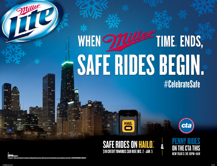 MillerCoors and the Hailo taxi app are giving away up to $1 million worth of free cab rides in Chicago.