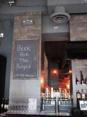 The bar features 40 draft beers and two cask ales in addition to 20 bottles.