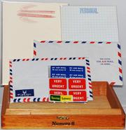 Stationery sets from Craftgasm are made from reclaimed air mail sets, maps, dictionaries and more. Available at Monroe Street Market in Brookland or online at www.shopcraftgasm.com.