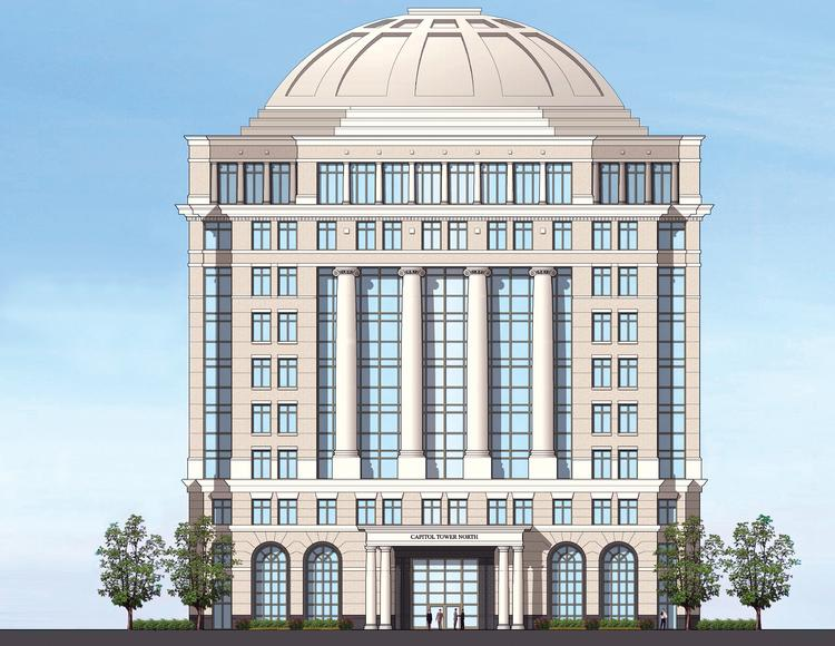 Capitol Towers at Carnegie would consist of two 10-story office buildings, each approximately 240,000 square feet.