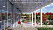 The community center at McMillan is the focal point of a planned 6.2-acre park.