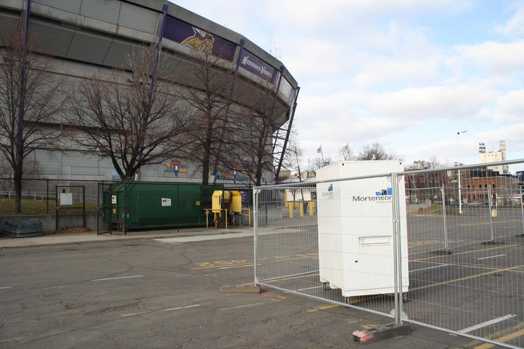 The demolition of the Metrodome began last month.