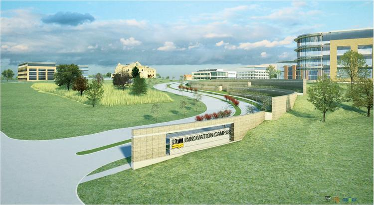 UWM Innovation Campus contract approval is pending at the state level.