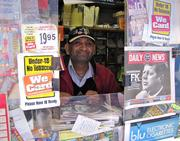 Bob Inamdar, Center City newsstand owner.