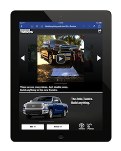 Boston-based social marketing startup Moontoast partnered with Toyota to launch a social advertisement on Instagram.