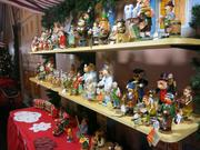 Most of the vendors at the German Christmas Village are local, mixed in with international vendors from Europe. Käthe Wohlfahrt, where these ornaments can be found, is a German company that specializes in handcrafted Christmas decorations.