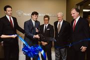 Matt Self, managing director (second from left), cuts the ribbon for Northwestern Mutual's new Green Hills district office. He is joined by Northwestern Mutual's David Knox, Chief Development Officer; Chuck Pruett, Managing Partner; and Bill Cochran, Retired Managing Partner; and Carter Todd, Metro Council Member and EVP & General Counsel of XMI Holdings.