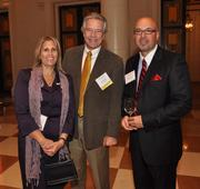 Lisa Tabin of NCCI, past honoree Keith O'Donnell of Avison Young and Alfredo Guerra of NCII.