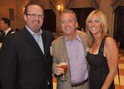 Past honoree John Duffy of 3Cinteractive, with honoree Chris and Shari Pyle of Champion Solutions Group.