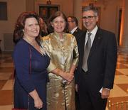 Kricket Marion, Marina Pesquera and honoree Jorge Pesquera of the Palm Beach County Convention and Visitors Bureau.