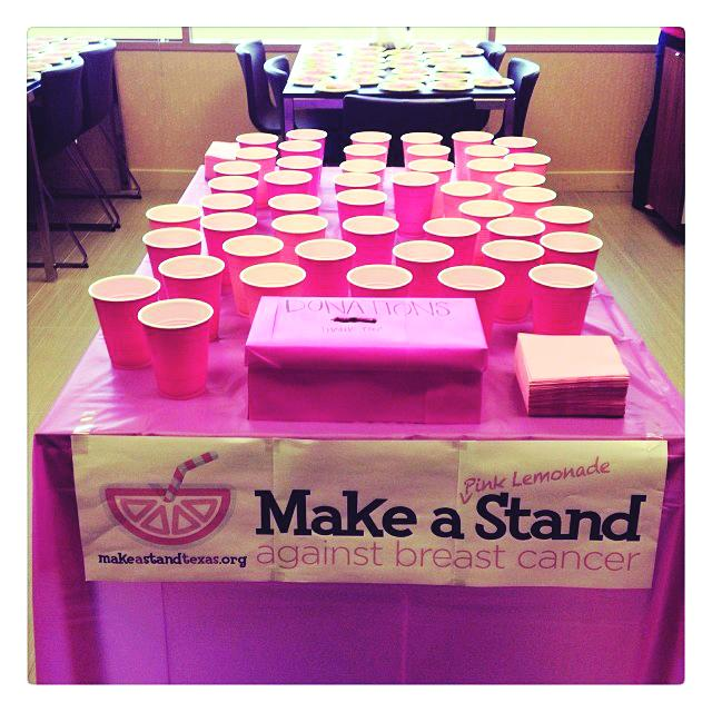 St. Luke's encourages children and grownups alike to host pink lemonade stands to raise breast cancer awareness. Social media is a key component of the project for spreading awareness and unifying community support. MakeAStandTexas.org aggregates any social media photo tagged with #MakeAStandTexas